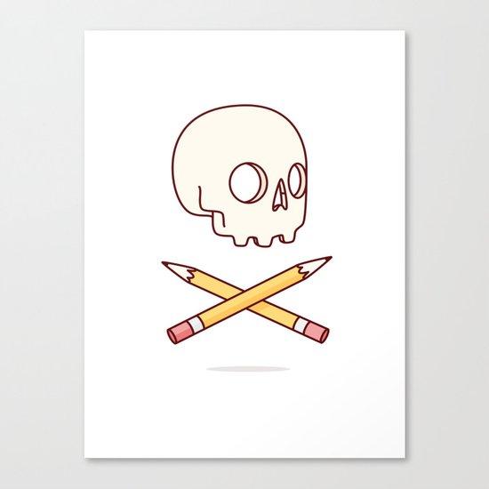 Designer Skull Canvas Print