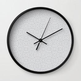 Fretwork Pattern Wall Clock