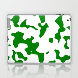 Large Spots - White and Green Laptop & iPad Skin