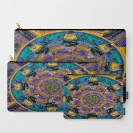 Purple Gold Dream Catcher Mandala Carry-All Pouch