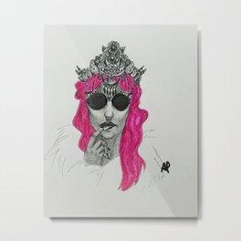 Mermaid Crown Metal Print