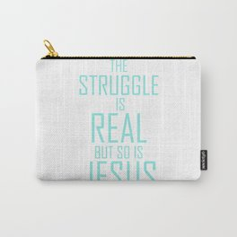 Jesus is Real Christian Carry-All Pouch
