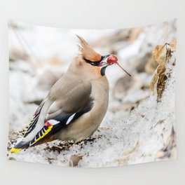 Bohemian waxwing Wall Tapestry