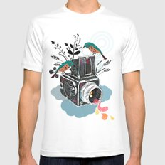 Vintage Camera Hasselblad White Mens Fitted Tee LARGE