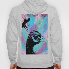 Peacock and colourful feathers Hoody