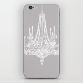 Chic White and Gray Chandelier   iPhone Skin