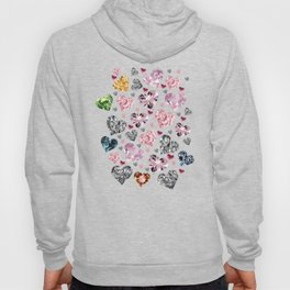 Heart Diamonds are Forever Love Blue Hoody