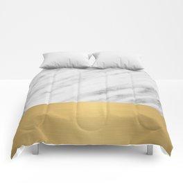 Carrara Italian Marble Holiday Gold Edition Comforters