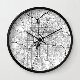 Atlanta Map White Wall Clock