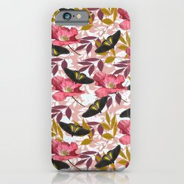 Troides Helena pattern pink iPhone Case