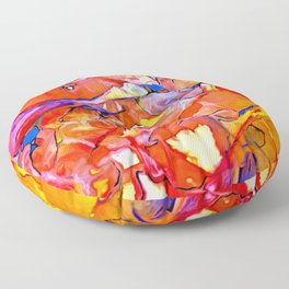 Fire Opal Impressions Floor Pillow