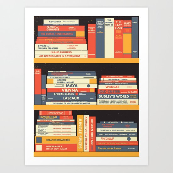 W.A. Library Art Print