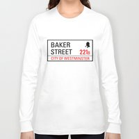 221b Long Sleeve T-shirts featuring 221B Baker Street by TheWonderlander