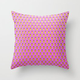 Elongated Holes3 Spanked Pink Throw Pillow