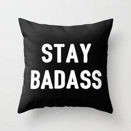 The Badass I Throw Pillow
