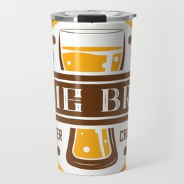 D20 Home Brew Content Creator Beer Label Travel Mug