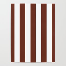 Liver (organ) Brown - solid color - white vertical lines pattern Poster
