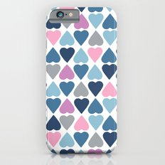 Diamond Hearts Pink Slim Case iPhone 6