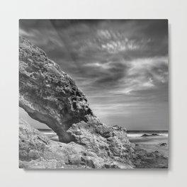 """""""Sea Arch"""". Mono Metal Print"""