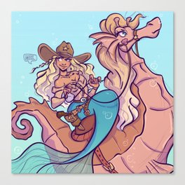 western mermaid Canvas Print