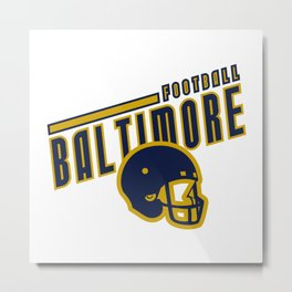Baltimore Football Metal Print