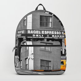NYC - Yellow Cabs - Bagel Cafe Backpack