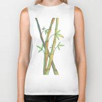 bamboo Biker Tanks featuring Bamboo by Alexandra Sutherland