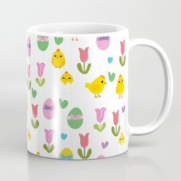Easter - chick and tulips pattern Coffee Mug