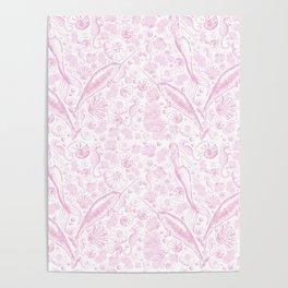 Mermaid Toile - Baby Pink Poster