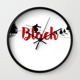 Ski at Black Wall Clock