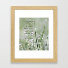 Teresa of Avila Quote Framed Art Print