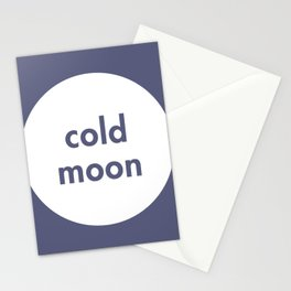 Cold Moon Stationery Cards