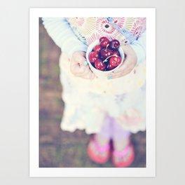 Sweet Cherry Girl Art Print