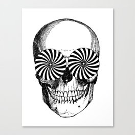 Black & White - Optical Skull Canvas Print