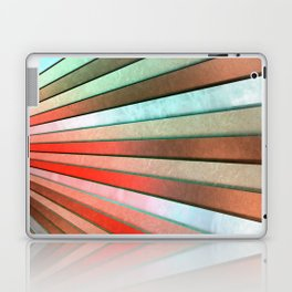Chromatic Fan - Copper, Red and Turquoise Laptop & iPad Skin
