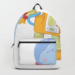 Space Hippo Hippopatamus Astronaut Backpack