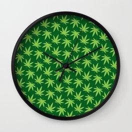 Pot Leaf Pattern Wall Clock