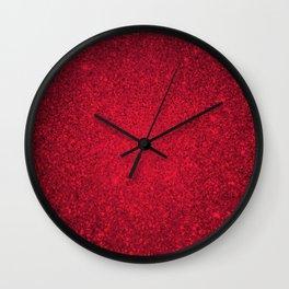 Rose Zircon Sparkling Jewels Pattern Wall Clock