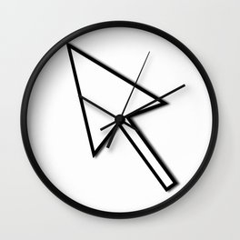 Cursor Arrow Mouse Black Line Wall Clock