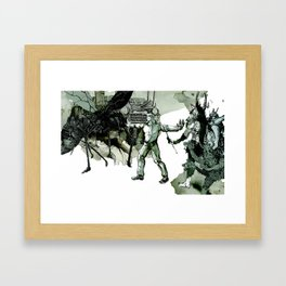 The final battle of American Gods Framed Art Print