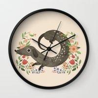 dachshund Wall Clocks featuring Dachshund by A.Vogler