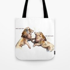 Dress fight - Blue or white? Tote Bag