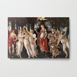 Primavera Painting by Sandro Botticelli Metal Print