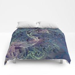 Purple Koi Fish Comforters