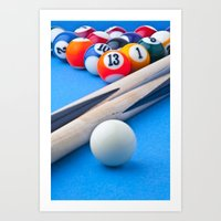 gaming Art Prints featuring Gaming Table by Valerie Paterson