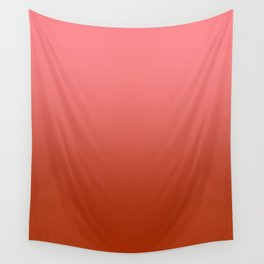 Pastel Red to Red Horizontal Linear Gradient Wall Tapestry