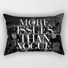 More Issues Than Vogue Black and White NYC Manhattan Skyline Rectangular Pillow