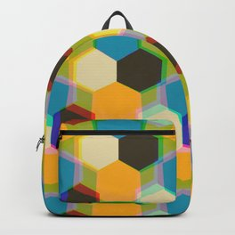 70'S Glam Rock Yellow Backpack
