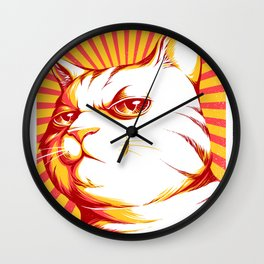 Obey Cats Wall Clock