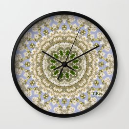 With Lilac Wall Clock